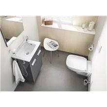 Pack meuble gris 70 cm compacte avec portes Debba Roca
