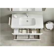 Pack meuble blanc 60 cm compact 2 tiroirs Debba Roca