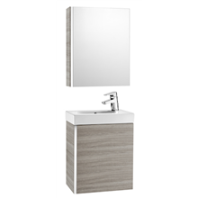 Meuble sable avec armoire de toilette et miroir Mini Roca