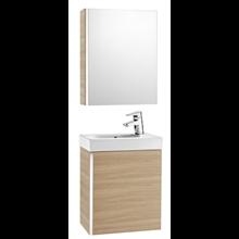 Meuble chêne avec armoire de toilette et miroir Mini Roca