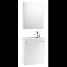 Meuble blanc avec armoire-miroir Mini Roca