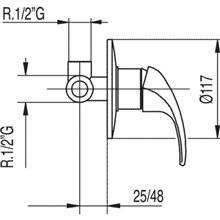 Robinet encastré 1 voie MONO-TRES 2000