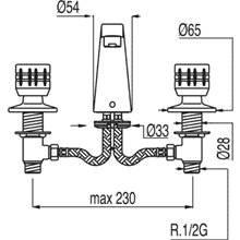 Robinet de lavabo en batterie ESE-23 TRES