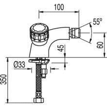 Robinet de bidet mélangeur manuel ESE-23 TRES