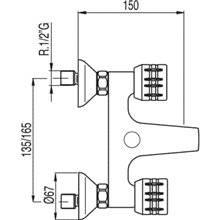Kit de baignoire-douche ESE-23 TRES