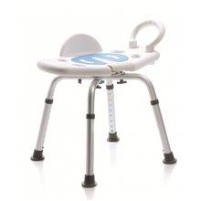 Chaise de douche pivotante blanche Timblau