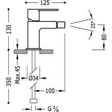 Robinet de bidet Loft-TRES avec levier