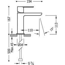 Robinet de lavabo rond avec levier Loft-Tres