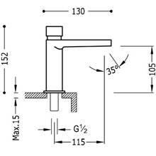 Robinet de lavabo temporisé et mitigeur Class-Tres