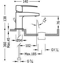 Robinet de lavabo Flat-TRES