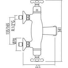 Robinet thermostatique de baignoire-douche ECO Monoclasic 1900