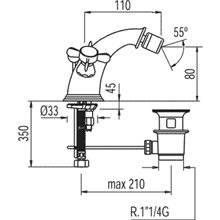 Robinet de bidet mélangeur manuel Rétro-TRES