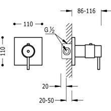 Robinet thermostatique à encastrer pour douche Compact Tres