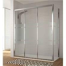 Pare-douche avec 2 portes coulissantes et 1 feuille fixe DI101 Kassandra