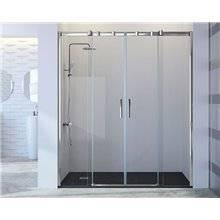 Pare-douche frontal avec 2 portes coulissantes et 2 feuilles fixes TN100 Kassandra