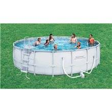 Piscine en kit ronde 549x132 cm POWER STEEL...
