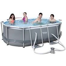 Piscine en kit ovale 300x200x84 cm Power Steel...