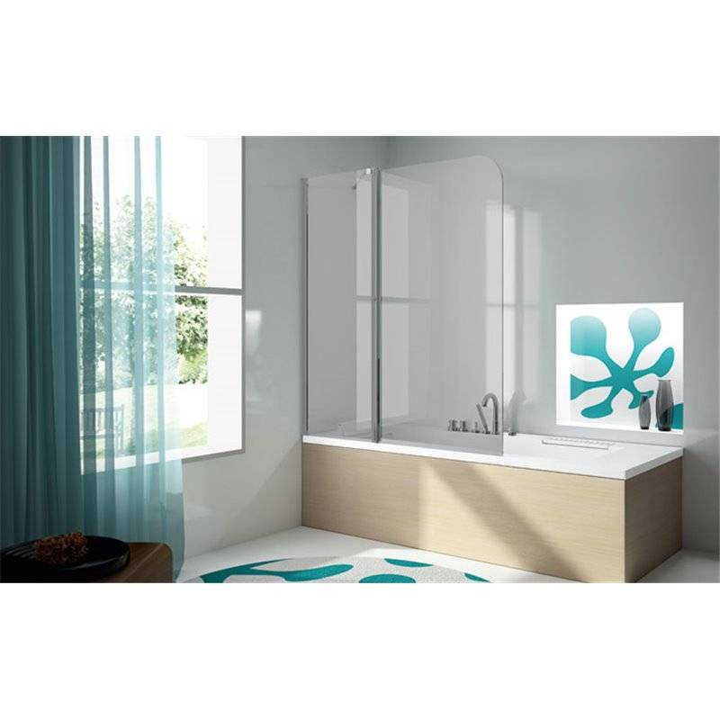 paroi de baignoire fixe porte rabattable tr563 kassandra. Black Bedroom Furniture Sets. Home Design Ideas