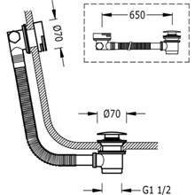 Système de vidage pour baignoire avec valve...