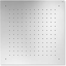 Pomme de douche encastrée de plafond INOX carré TRES