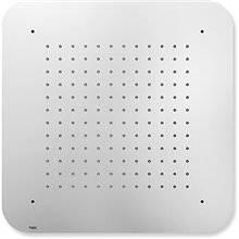 Pomme de douche encastrée de plafond INOX carré 42 x 42 TRES