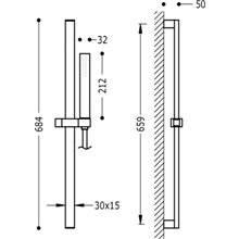 Kit de douche avec barre coulissante PROJET-SLIM TRES