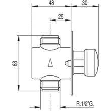 Robinet temporisé pour urinoir encastré TRES