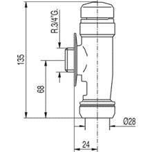 Bouton-poussoir chronométré pour WC TRES