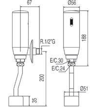 Robinet électronique pour urinoir TRES