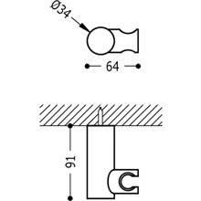 Support orientable rond pour douche laiton TRES