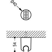 Support fixe pour douche TRES