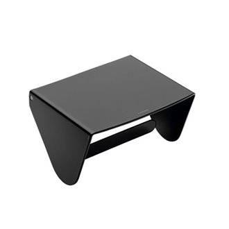 Dérouleur papier WC noir avec couvercle COSMIC