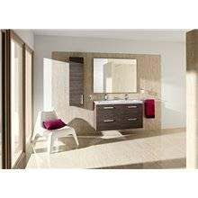 Pack meuble 120 cm deux tiroirs gris anthracite Prisma Roca