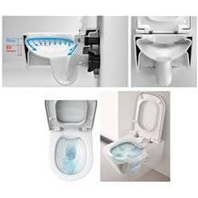 WC compact suspendu Inspira Round Roca