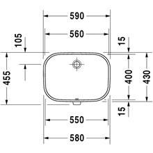 Vasque encastrée D-Code 56 Duravit
