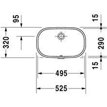 Vasque encastrée D-Code 49,5 Duravit