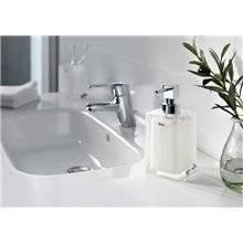 Distributeur de savon sur plan Ice Roca blanc