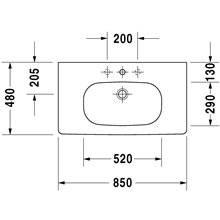 Plan vasque pour meuble 85 D-Code Duravit