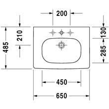 Plan vasque pour meuble 65 D-Code Duravit