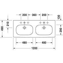 Plan vasque double pour meuble D-Code Duravit
