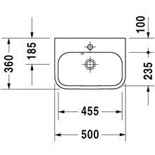 Vasque pour meuble 50 Happy D.2 Duravit