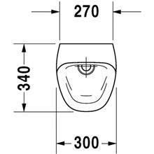 Urinoir Durastyle alimentation arrière 30 DURAVIT