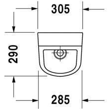 Urinoir alimentation arrière D-Code DURAVIT