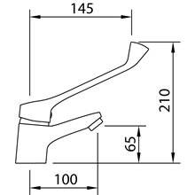 Robinet de lavabo sanitaire S12 Urbain Clever