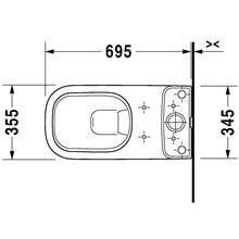 WC complet deux sorties réservoir bas 36 D-Code DURAVIT