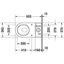 WC complet réservoir bas sortie verticale Starck 3 DURAVIT
