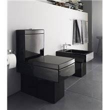 WC noir complet double sortie réservoir bas Vero DURAVIT
