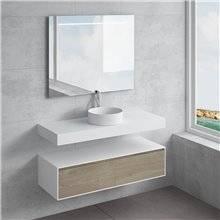 Ensemble plan de toilette + vasque à poser ACIS NATUGAMA