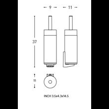 Brosse WC sol/mur logic COSMIC
