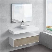 Ensemble plan de toilette + vasque à poser CALIPSO NATUGAMA